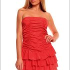 Robe bustier rouge courte