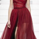 Robe rouge hiver 2020